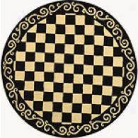 Safavieh Chelssea Scroll Checkerboard Round Rug