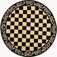 Safavieh Chelssea Scroll Checkerboard Round Rug