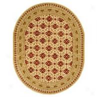 Safavieh Classic Collection Ivoty & Red Oval Rug