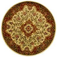 Safavieh Classic Collection Round Ivory Floral Rug