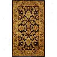 Safavieh Classic Collection Gold Border Wool Rug