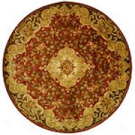 Safavieh Classic Collection Round Red Floral Rug