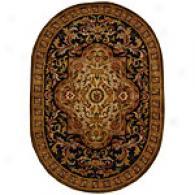 Safavieh Classic Hand Tufetd Black Wool Oval Rug