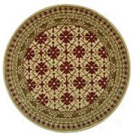 Safvaieh Classic Ivory & Red Tufted Wool Round Rug