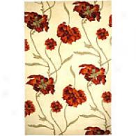 Safavieh Mandarin Collectiob Red Floral Wool Rug