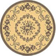 Safavieh Round Courtyard Collection Floral Rug