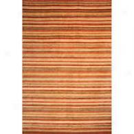 Safavieh Tibetan 4x6 Tonal Stripe Rust Wool Rug