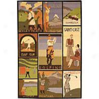 Safavieh Vintage Poster Golfers Wool Rug