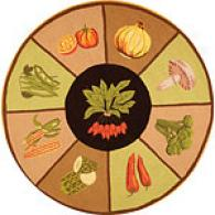 Safavieh Vintae Poster Vegetable Round Wool Rug