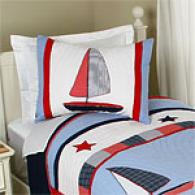 Sailboat Kids Cotton Quilt Set