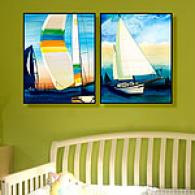 Sailing Skies Set Of 2 Outdoor Canvas Prints