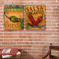 Salsa Set Of 2 16in X 20in Canvas Prints
