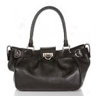 Salvatore Ferragamo Black Leather Marianna Tote