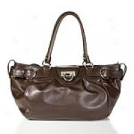 Salvatore Ferragamo Chocolate Leather Satchel