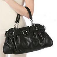 Salvatore Ferragamo Marissa Black Leather Satchel