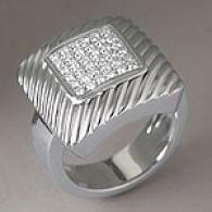 Salvini 18k 0.40 Cttw. Square Brilliant Ring