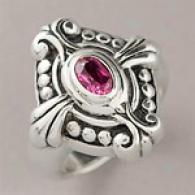 Samuel B Sterling 0.45 Cttw. Pink Tourmaline Ring