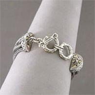 Samuelb Silver & 18k Seven Row Bali Bracelet