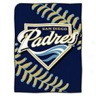 San Diego Padres 60in X 80in Baseball Throw