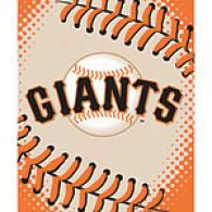 San Fransisco Giants 60in X 80in Baseball Throw