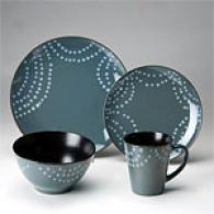 Sapphire Pearl Strings 16pc Dinnerware Set