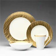 Sasaki Beechwood Gols 16pc Dinnerware Set