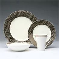 Sasaki Beechwood Platinum 16pc Dinnerware Set