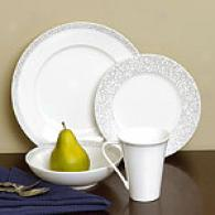 Sasaki Silver Script 16pc Dinnerware Set