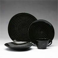 Sasaki Spa Black 16 Piece Dinnerware Set