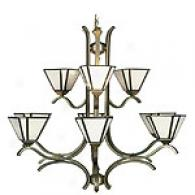 Satin 9 Light Chandelier