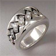 Scott Kay 0.29 Cttw. Diamond Stitched Silver Ring