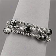 Scott Kay 25.00 Cttw. Onyx Briolette Bracelet