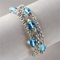Scott Kay Sterling 25.00 Cttw. Blue Topaz Braceket