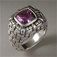 Scott Kay Sterling Silver & Amethyst Ring