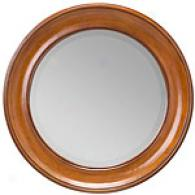 Seabrook Honey-finished Round Mirror