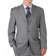 Sean John Silver Grey Wool Twill 3 Button Suit
