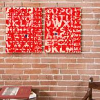 See Why Red Set Of 2 166x20 Canvas Prints