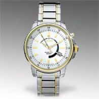 Seiko Kinetic Two Tone Silver Dial Mens Watch