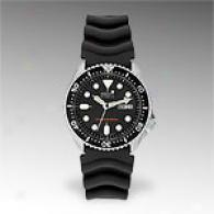 Seiko Mens Black Rubber Diver Watch Skx007k