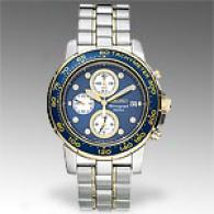 Seiko Two Tone Alarm Chronograph Watch