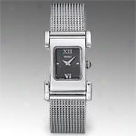 Seiko Womens Mesh Stainless Steel Watch