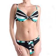 Sessa Bold Striped 2pc Swimsuit