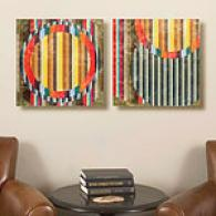 Set Of 2 16 X 16 Strata Canvas Prints