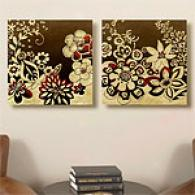 Set Of 2 24x24 Kyoto Garden Canvas Prints