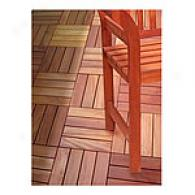 Set Of 20 Four-slat Wood Deck Tiles
