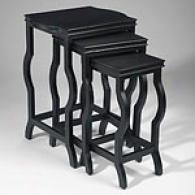Set Of 3 Negro Nesting Tables