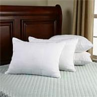 Set Of 4 300tc Quilted Down-alternative Pillows