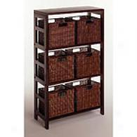 Seven Piece Storage Shelf And Baskets