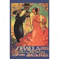 Sevilla Fiestas De Primavera 12in X 18in Canvas