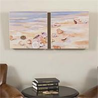 Shells Along The Beach Outdoor Canvas Prints
